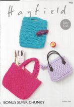 Hayfield Bonus Super Chunky Knitting Pattern - 7955 Bags